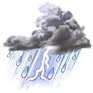 Picture representing Thunderstorm Light Rain Fog/Mist conditions